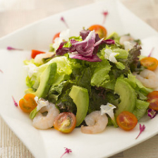 エビとアボカドの花野菜XLVミレットサラダ