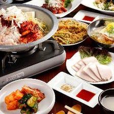 120分飲み放題付!ヤンニョムチキンなど人気の韓国料理も勢揃い『宴会特選5,000円コース』全7品