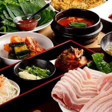選べるメインで韓国本場の味を堪能!