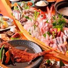 大舟盛・金目鯛煮付 飲み放題宴会