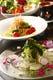 毎朝仕入れる新鮮魚介のカルパッチョや旬のおすすめパスタ