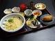 釜玉うどんと季節の天ぷら定食