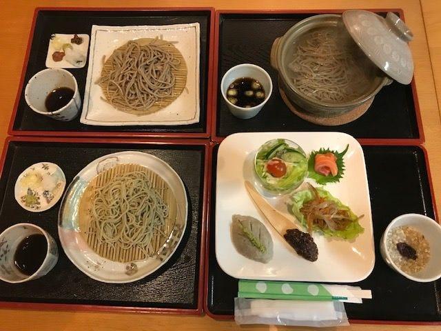 【予約限定】3種のお蕎麦と前菜6品が付いたそばづくしのランチセット