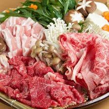 特選黒毛和牛焼きしゃぶとお造り極み盛りで旬を味わう 「和の極みコース」