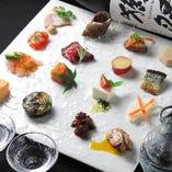 15種類の旬菜プレートをランチタイムで1,000円(税抜)~愉しむ