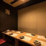 4名様×2部屋・掘りごたつ席|日本の伝統的な表情にモダンさを兼ね備えた宴会のお席