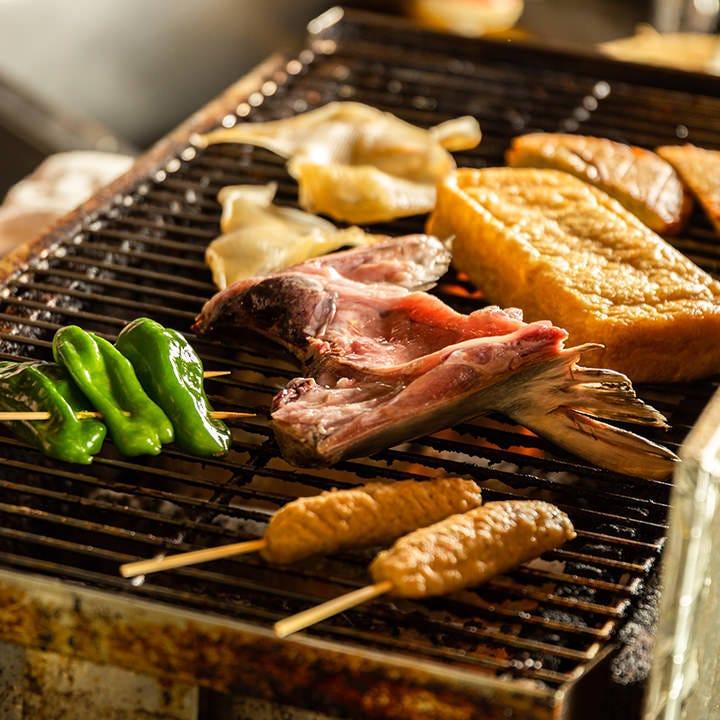 カマ、つくね、野菜…職人が美味しく焼きます!焼きますとも!