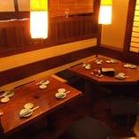 2名様~6名様用のボックスタイプのテーブル席は、ご家族とのお食事や友人との飲み会など、気軽なシーンにおすすめです!