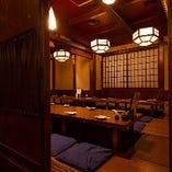 【10~30名様までの座敷&個室あり】飛騨高山の古民家の木を使った、風情ある店内。目黒でのご宴会にぜひどうぞ!