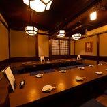 【15~30名様】掘りごたつの完全個室/完全個室なので、忘年会や新年会などの宴会が増えるこれからの時期にはピッタリのお席です。