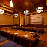 【15~30名様】掘りごたつの完全個室/店内の奥にある完全個室は広々とした空間なので団体様の宴会などに最適!