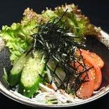 水菜と大根のシンプルサラダ