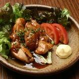 大山鶏のガーリックバター焼き