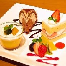 自家製ケーキ3種盛り合わせ