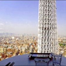 ■東京の街並みを眼下に一望できる店