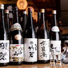 厳選地酒やオリジナル日本酒を取り揃え