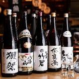 獺祭や一ノ蔵など日本全国の銘酒やオリジナル日本酒を味わえる