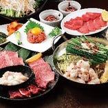 厳選お肉ともつ鍋の最強コンビのコースも。