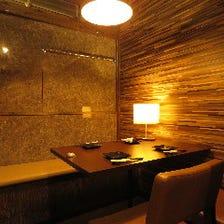 様々な人数に対応可能な全席完全個室