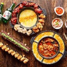 噂の韓国料理&チーズを満喫♪