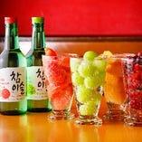 飲み放題の種類が4種と豊富。お好みでお選びください