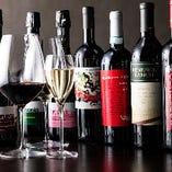 ワインはおすすめのご紹介も可能