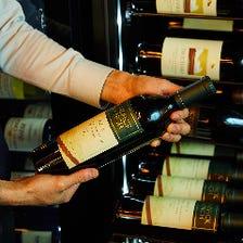 イタリアを中心に世界のワインを用意