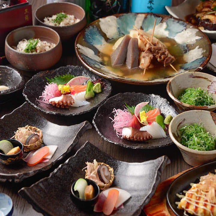 日本酒や焼酎と合わせて楽しみたい『和酒コース』 宴会 接待 飲み会 会食