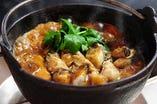 旨味と甘味が詰まったかきと土手味噌のコクが相性ばっちり!