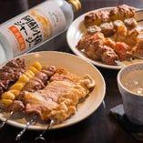 お手軽に味わえる串料理なども多数!