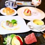 【ステーキランチ】鹿児島県産黒毛和牛赤身肉(100g)がメイン