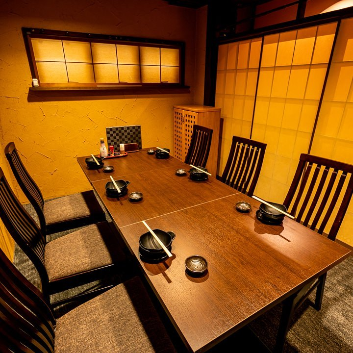 テーブル席・完全個室(壁・扉あり)・10名様まで