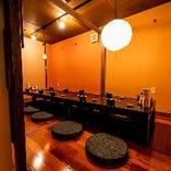 【全席完全個室】 ご年配の方にも寛ぎやすい掘りごたつ個室。