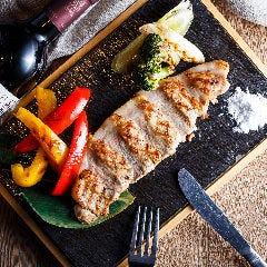 宮崎県産あじ豚と野菜のグリル 宮古島の天然塩で