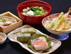 柿の葉寿司とにゅう麺膳