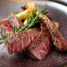 今夜の牛ステーキ