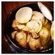 貝類のアヒージョ!はまぐりと白ツブと大粒の牡蠣の旨みたっぷり