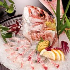 釣りたての魚を味わって