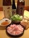 大人気のあじ豚しゃぶしゃぶと日本酒