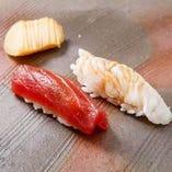 新潟地元の旬な鮮魚や食材を使ってお造りしております。