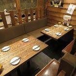 【半個室】8名までOKのテーブル半個室