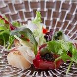 本日の鮮魚のカルパッチョ 菜園風