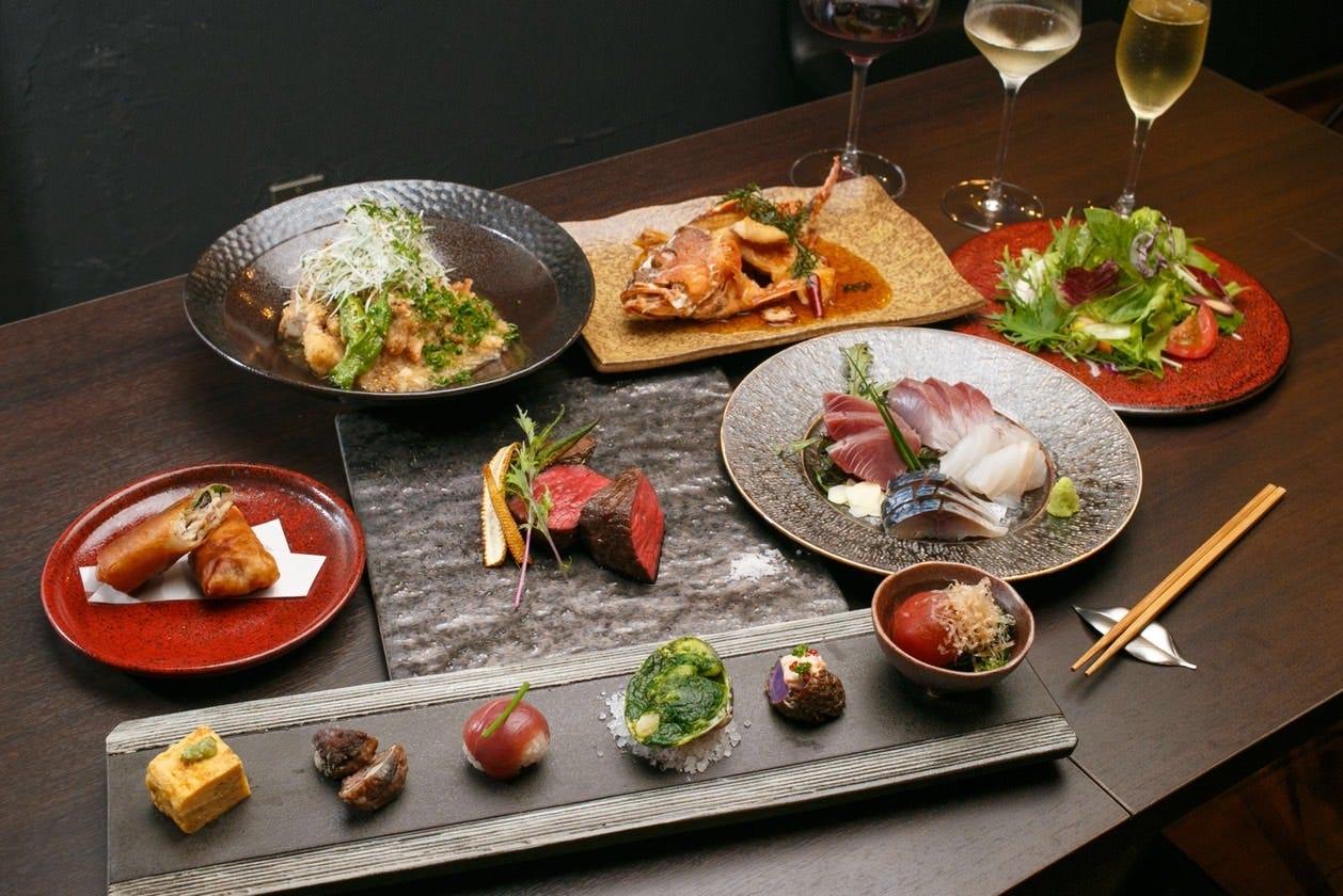 地元食材の和食と自然派ワインの店〜a.Un(あうん)〜