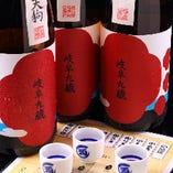 地酒を中心に厳選した日本酒の数々!!