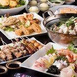 【宴会料理】 鍋とお刺身を同時に味わえる贅沢なコースも◎