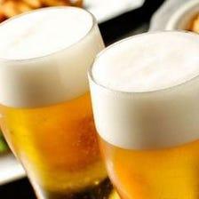 日本酒含む豊富なメニューの飲み放題