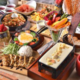 【チーズづくしコース】チ~ズもお肉も楽しめる!人気のよくばりプラン♪