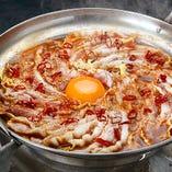 扇子の赤鍋