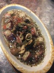 ヤリイカとマッシュルームのオイル煮