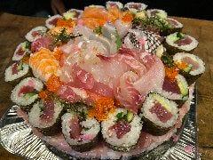 寿司ケーキ 誕生日や記念日各種お祝いに!テイクアウト可能